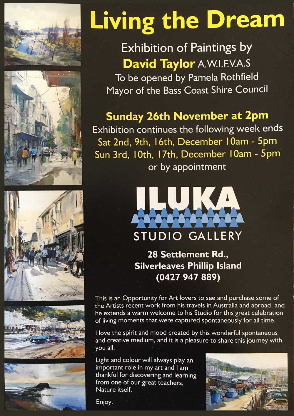 Living the Dream Exhibition - David Taylor - Artists' Society of