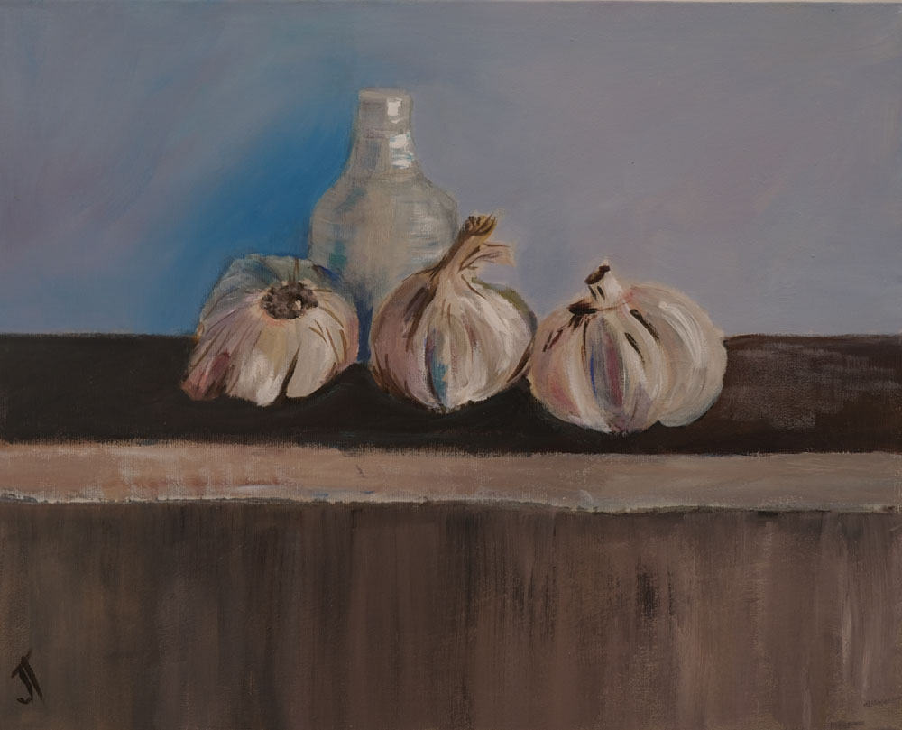 Jan Taylor - Garlic on Shelf